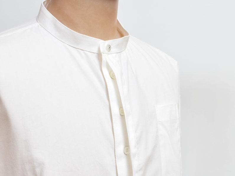 ノーカラーシャツ【arikiri】